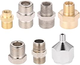 KKmoon Professional 7pcs Airbrush Adaptor Kit Fitting Connector Set for Compressor & Airbrush Hose