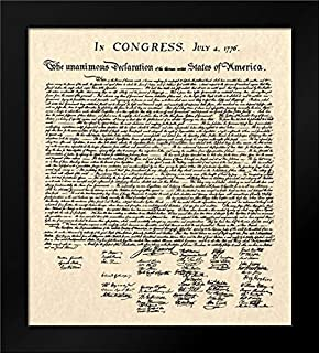 Declaration of Independence Doc. 15x18 Framed Art Print by Founding Fathers
