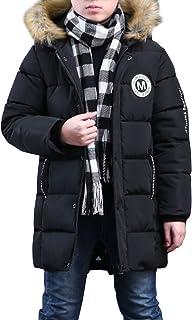 951cbad0c9d50 Phorecys Garçon Manteau d'hiver Rembourré avec Capuche Fourrure Enfant  Parka Hiver Blouson Neige
