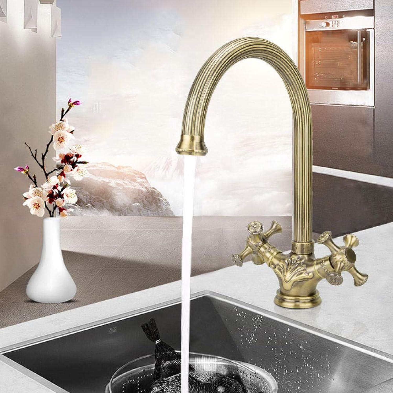 Waschtischarmaturen Küchenarmaturen Warm- Und Kaltwasser-Mischbatterie_Alle Kupfer-Warm- Und Kaltwasser-Mischbatterie Doppelt Verbundene Drehbare Multifunktionsküche Und Badezimmer