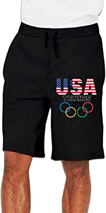 UANLA USA Tennis Mens Performance Shorts Sweatpants