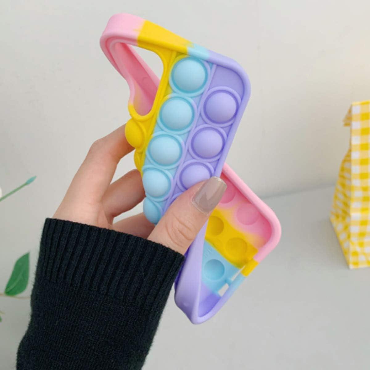 iPhoneXR, Multicolor Fidget Toys Phone Case,Push Pop Bubble Protecive Case for iPhone7,8,7P,8P,X,XS,XS Max,XR,11,11pro,12,12Pro,12Pro Max