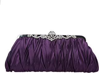 Bonjanvye Soft Clutch Purses and Handbags Dresses Rhinestone for Women Evening Bags