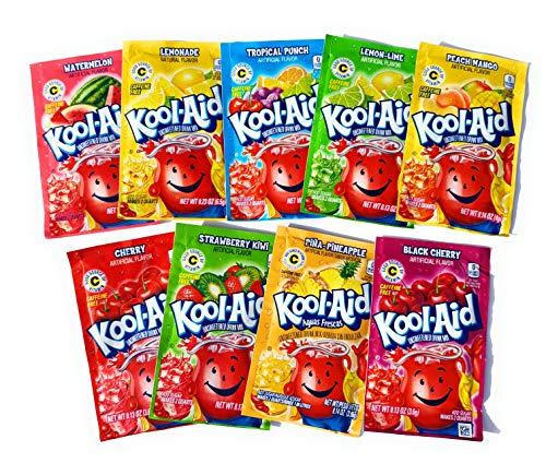 Kool-Aid Paquete variado 9 bolsitas de sabor, buena fuente de vitamina C exclusivo de Bargain Depot