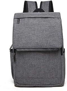 Large Capacity Backpack Men's Shoulder Bag Computer Travel Bag High School Boys Bag School Wind QDDSP (Color : Gray)