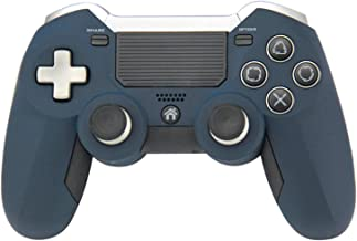 Elite Controller Compatible with Playstation PS4/PS3/PC,Wireless, 2.4Ghz, Includes Paddles/Additional Buttons, Connects Via USB Dongle (Blue)