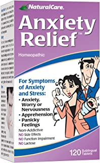 NaturalCare Anxiety Relief | Homeopathic Support for Natural Anxiety & Stress Relief | Quick Dissolve Tablets | HPUS Compl...