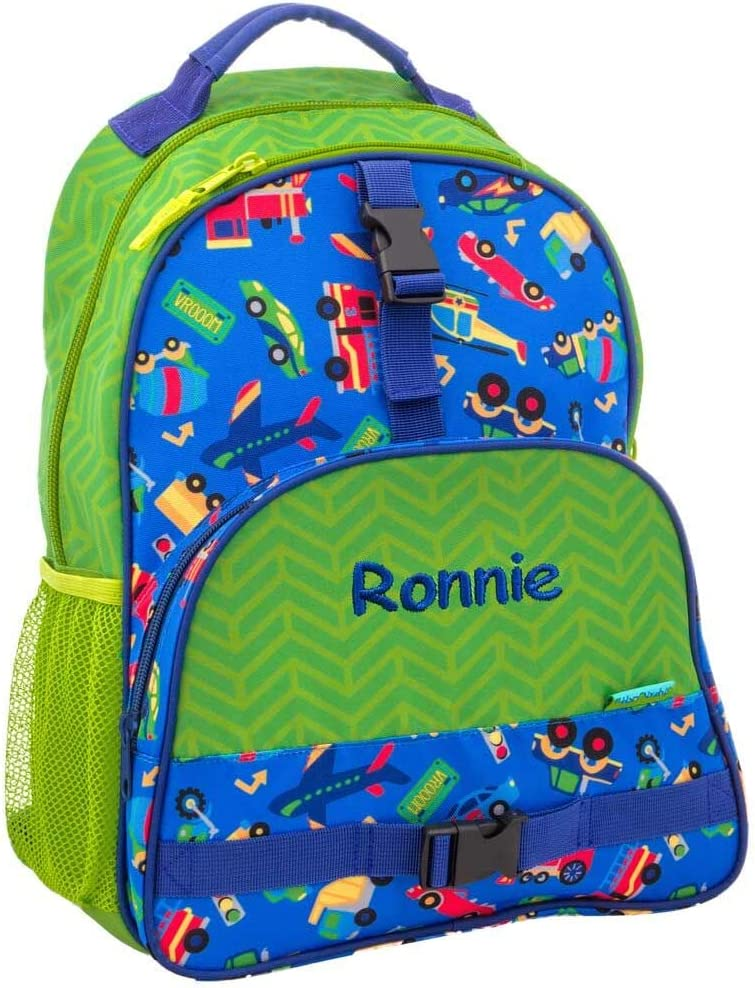 Personalized Trendsetter Backpack Cars 1 year warranty Trucks Planes Brand new Train