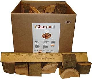 CharcoalStore Plum Wood Smoking Chunks - Bark (5 Pounds)