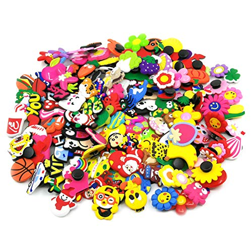60pcs Different PVC Shoe Charms Shoe Decoration Shoe Accessories for Croc and Bracelet Wristband Kids Party Birthday Gifts Decoration