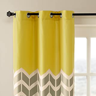 grey and yellow nursery curtains
