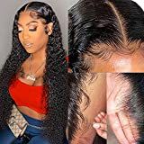 30 Inch Transparent Lace Front Wigs Human Hair Pre Plucked Invisible 13x4 Curly Lace Front Wigs Human Hair for Black Women hd Full Lace Frontal Human Hair Wigs Wet and Wavy Natural Color