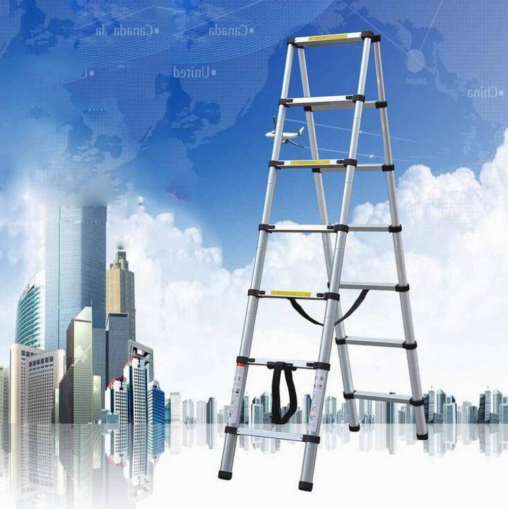 HUI Escalera Telescópica Escalera Plegable para La Casa De La Oficina Al Aire Libre Interior del Desván - Carga Máxima: 150 Kg - EN 131,2.0M+2.0M-ATypeLadder: Amazon.es: Hogar