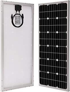 Richsolar 100 Watt 12 Volt Monocrystalline Solar Panel with MC4 Connectors 12 Volt Battery Charging RV, Boat, Off Grid (100W)
