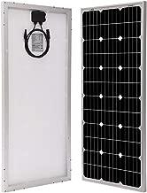 Richsolar 100 Watt 12 Volt Monocrystalline Solar Panel with MC4 Connectors 12 Volt Battery Charging RV, Boat, Off Grid (100W)
