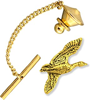 Canada Goose Honker Bird Pewter Tie Tack, Tie Pin, Jewelry, B001TT