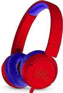 JBL JR 300 - Auriculares de Diadema para niños, Color Rojo