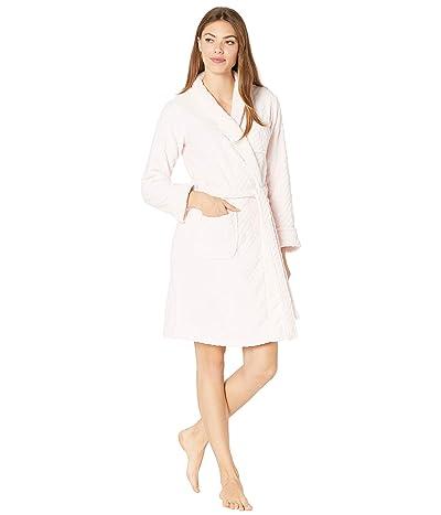 LAUREN Ralph Lauren Short Shawl Collar So Soft Robe (Pink) Women