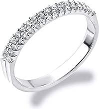 Eternity Wedding Bands 14K Gold 0.25 CT Double Row Diamond Anniversary Ring
