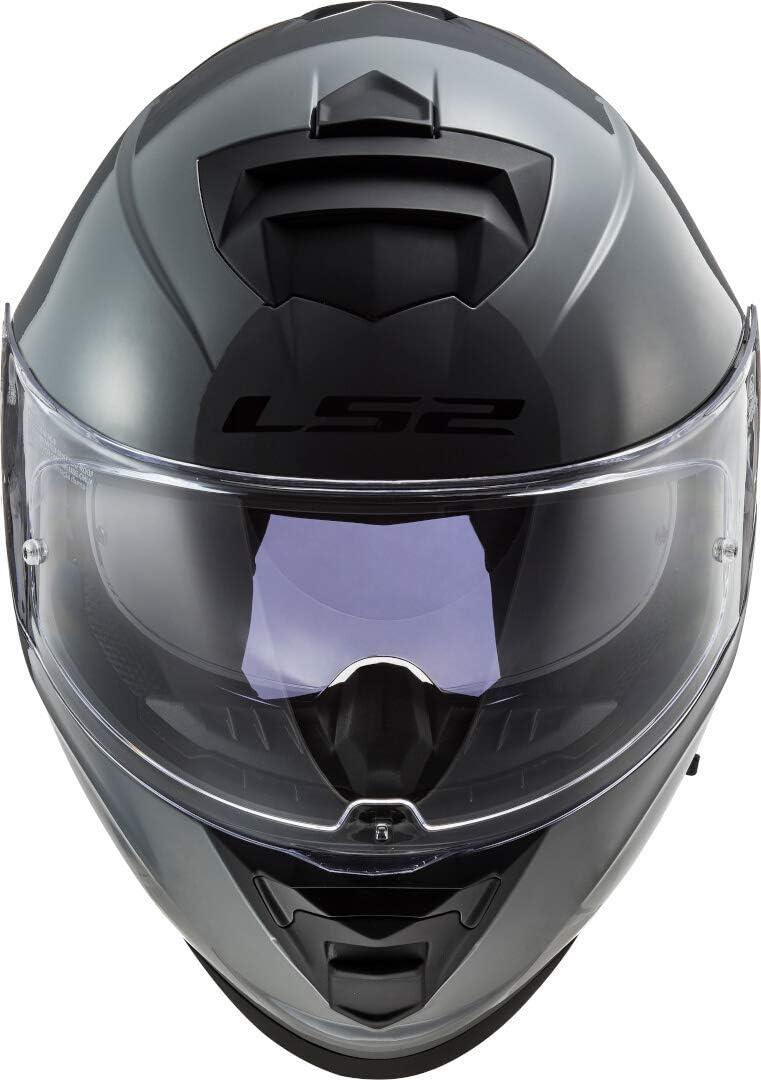 XS Negro LS2 Casco de moto FF800 STORM SOLID GLOSS BLACK
