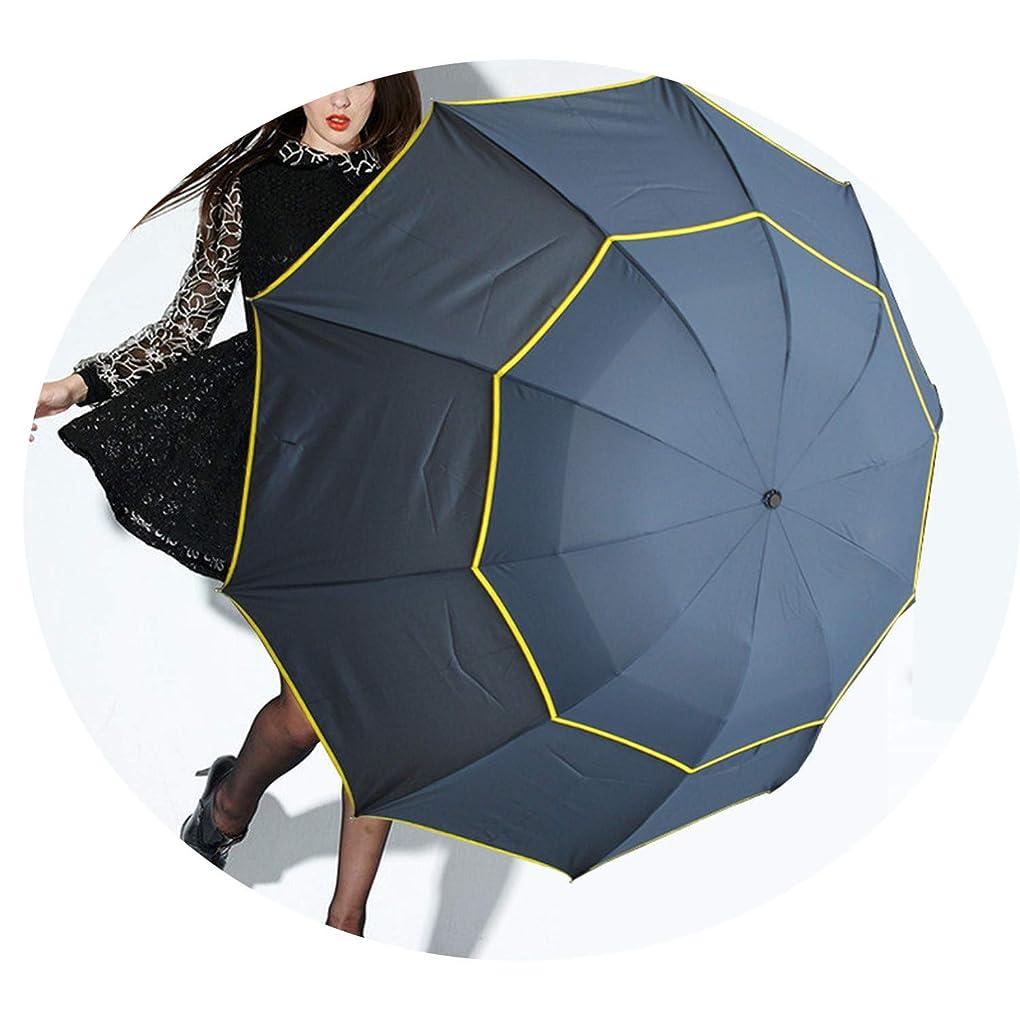 露一族隔離3倍ダブルゴルフスーパー防風折りたたみ傘傘傘,青,30寸*10K