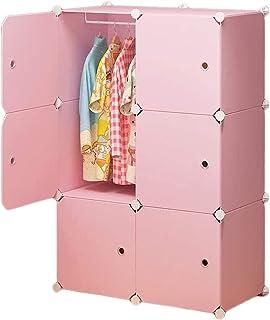 XINYALAMP Vêtements Armoire Armoire Armoire Armoire Portable Chambre à Coucher Résine Placard Assemblage Armoire Rose Armo...