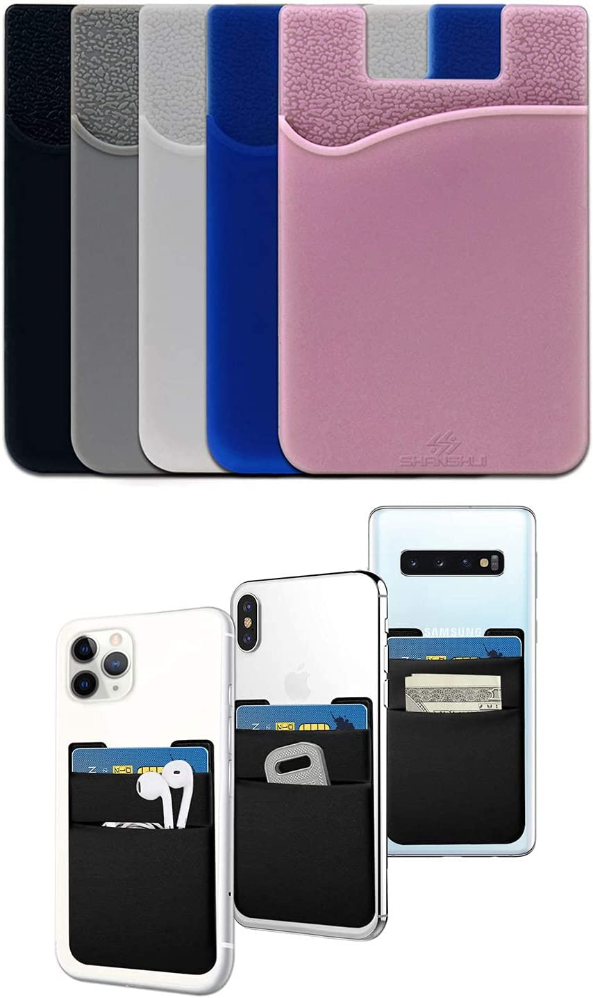 Phone Card Holder Quality inspection SHANSHUI Cell Atlanta Mall Ly Wallet Double Stretchy