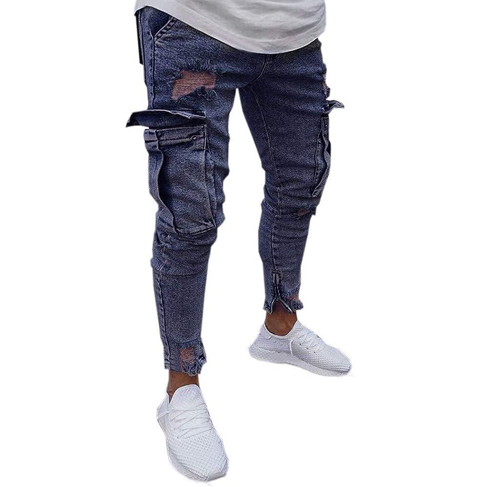 Alangbudu Men's Joggers Sweatpants Slim Fit Sweat Pants with Zipper Pockets and Zipper Cutout Legs Bottoms
