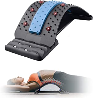 H HOME-MART 4 Level Back Stretcher Lumbar Support Device, Back Massager with Magnetic Acupressure Points, Multi-Level Lumb...
