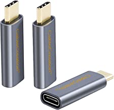 CableCreation USB C Extension Adapter [3-Pack], USB 3.1 Type C Male to Female Convertor 10Gbps, Compatible MacBook/Pro, Galaxy S9/S9+, Pixel 2 XL, etc, Space Gray Aluminum
