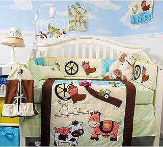 SoHo Baby Crib Bedding 9 Piece Set, Farmland Ranch