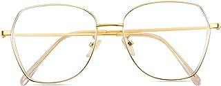 ROSA&ROSE Occhiali da lettura con blocco della luce blu - Occhiali Antiriflesso Anti Eyestrain Occhiali retrò Per UV PC Ga...