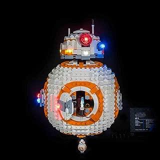 HMANE LED Light Set Battery Powered for Lego Star Wars BB-8 Robot 75187 (LED Light Only, Not Lego Manufacturing or Selling)