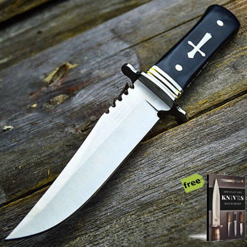 11' Wood Hunting Survival Celtic Cross Fixed Blade Carbon Steel Razor Sharp Blade Knife Full Tang Army Bowie + Free eBook by SURVIVAL STEEL