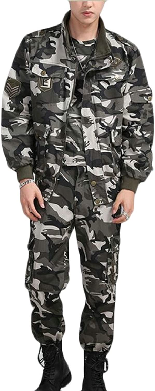 Yayu Mens Tactical Uniform Jacket & Pants Suit Army Military Airsoft Paintball Hunting