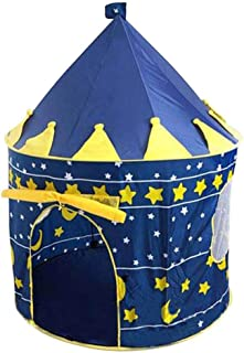 Play Tent for Boys, Hamkaw Prince Castle Play Tent for Kids, Durable | Foldable | Washable Kids Play House with 1 Door 2 Windows for Indoor & Outdoor Baby Children Toddler Gift Toys