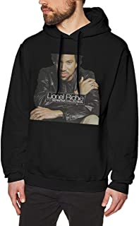 Ruierjia Mens Lionel Richie The Definitive Collection Casual Hoodies Hoodie Black