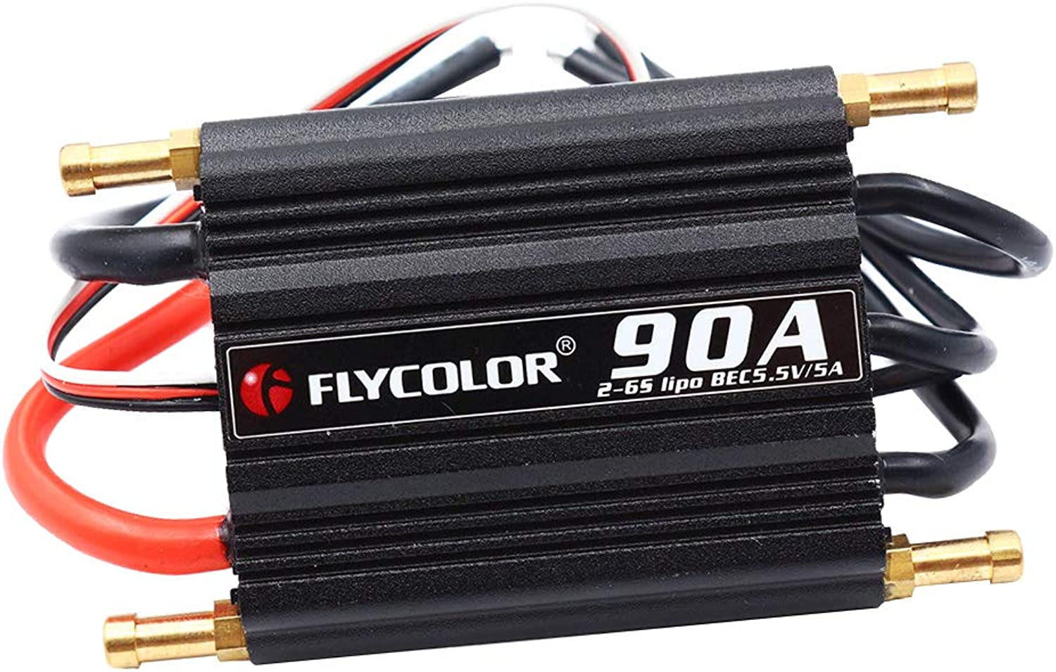 Dolity Flycolor 90A Brushless ESC Waterproof with 5.5V 5A BEC for RC Boat Motors