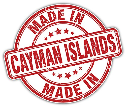 Gemaakt in Cayman eilanden Grunge stempel Bumper Sticker Vinyl Art Decal voor auto vrachtwagen Van Window Bike Laptop