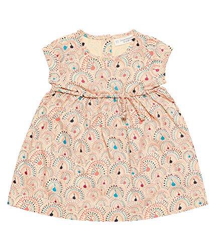 SENSE ORGANICS Mani Baby Kleid GOTS-Zertifiziert Robe, Multicolore (AOP Peacocks 482005), 56 cm (Taille du Fabricant: 0M) Bébé Fille