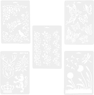 OUNONA - Plantillas de dibujo de plástico, álbum de recortes, decoración de bricolaje,