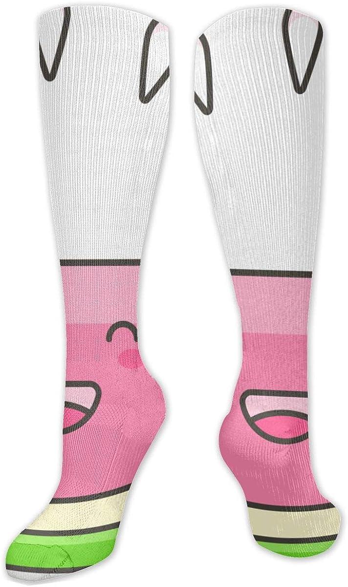 Cute Cartoon Watermelon Clipart Knee High Socks Leg Warmer Dresses Long Boot Stockings For Womens Cosplay Daily Wear