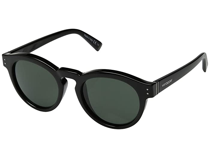 VonZipper Ditty (Black Gloss/Vintage Grey) Athletic Performance Sport Sunglasses