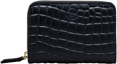 Maxwell Scott Italian Made Leather Makeup Brush Case - Lorena Black