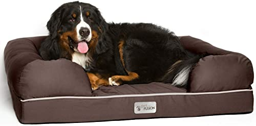 PetFusion Ultimate Dog Bed, Orthopedic Memory Foam, Multiple Sizes/Colors, Medium Firmness Pillow, Waterproof Liner, ...