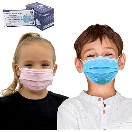 Para niños, 50 uds Mascarilla Quirúrgica IIR infantil Homologada CE | 3 capas (BFE>99%) | desechable - no Reutilizable | envío desde España | varios Colores (Azul)