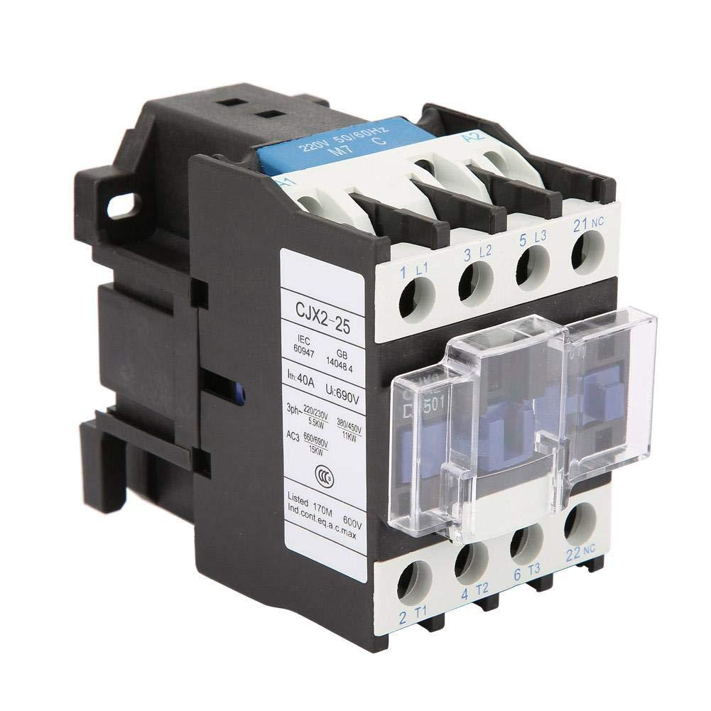 CJV2-2501 AC 220V 25A AC Contactor Alta Sensibilidad Eléctrica Industrial