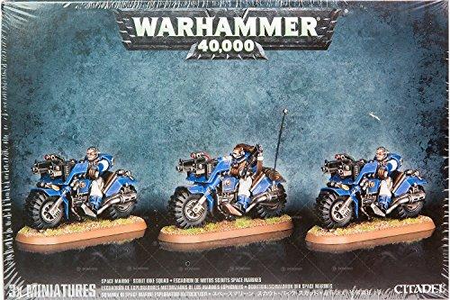 Warhammer 40,000 Space Marine Scout Bike Squad (3 figures, 2013) by Games Workshop