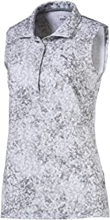 Women's 576158 Wofloral Sleeveless Polo Shirt, Medium, Carmine Rose