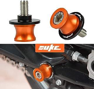 Duke 2pcs Diabolos M10 10mm Tornillos del Soporte para KTM Duke 125 200 250 390 690 790 990 1290 / RC125 RC200 RC250 RC390 / 690 Duke R / 690 LC4 Supermoto LC4 Enduro / 690 SMC 690 SMC-R-Naranja